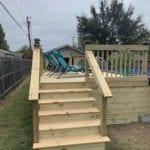 Sometimes Spouse Handyman Services Waco - Wooden Above Ground Pool Deck Built with Steps